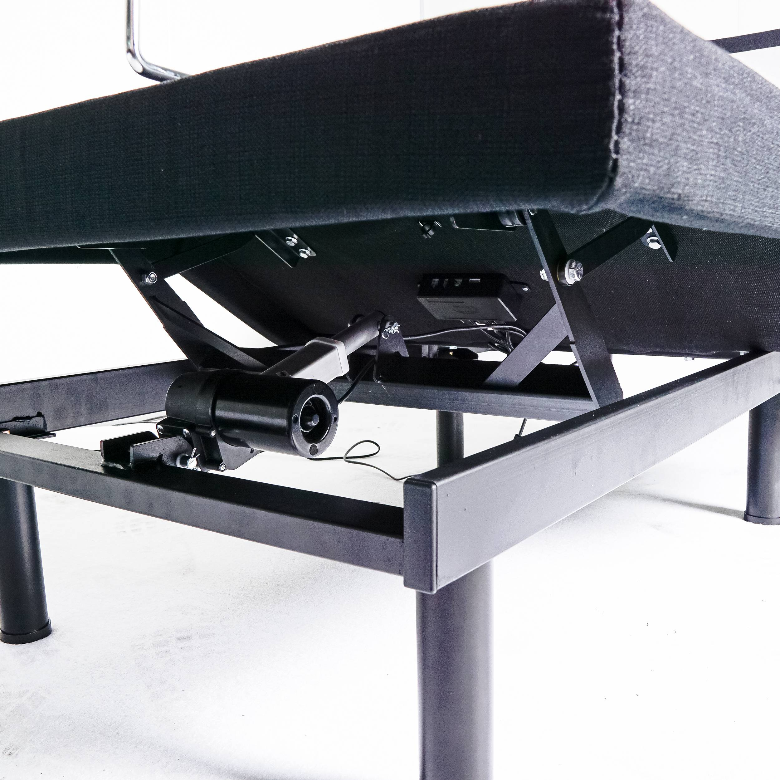 Versatile 2 linear-motors multi-function optional adjustable bed base
