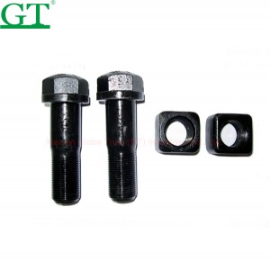 Black bolts hex screw nut track plow bolt and nut for Cutting Edge used in 6V8360/3K9770