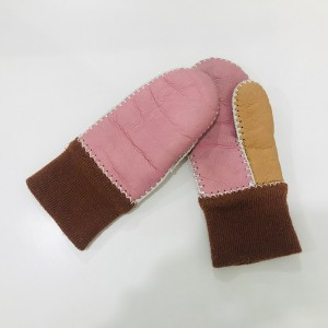 Double Face Leather Gloves For Children
