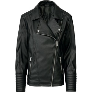 Asymmetrical biker coat for ladies