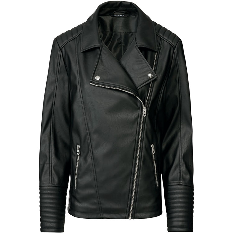 Asymmetrical biker coat for ladies Featured Image
