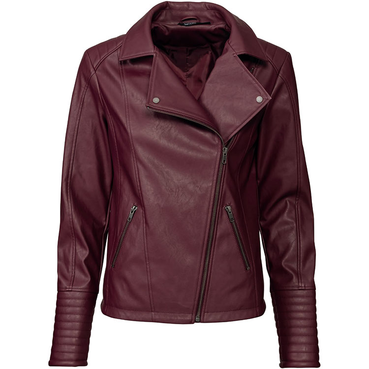 Ladies Biker Jacket PU Featured Image