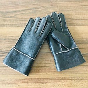 Double Face Lether Gloves For Man
