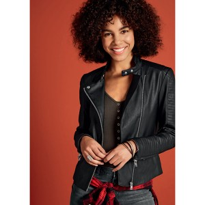 Soft Ladies Biker Jacket