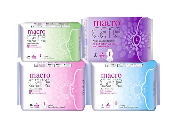 Macro Care Anion Sanitary Pad for Wholesale and Distribution- OEM/ODM Supported