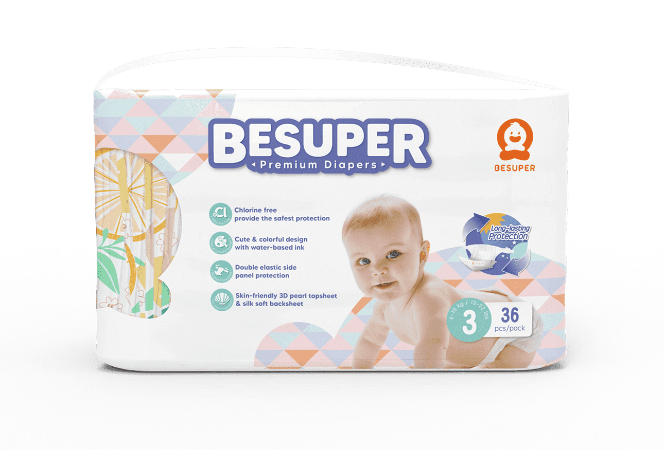 Besuper Fantastic Colorful Baby Diaper