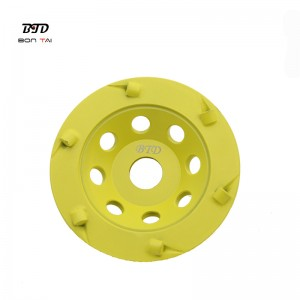 5 Inch PCD Diamond Grinding Cup Wheel for Floor Epoxy Coating Removal