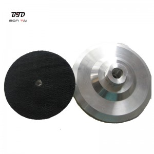 5 inch M14 Thread Diamond Polishing Pads Packer Pad Aluminum Backer Pads Angle Grinder Adapter
