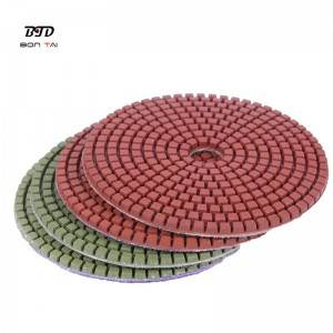 Wet or dry polishing resin pads for granite,marble and concrete