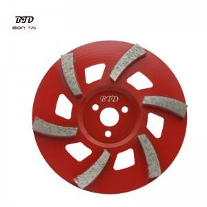 7″ 6 Segments TGP Diamond grinding wheel abrasive disc