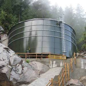 Mount water storage tank