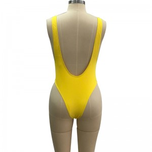 Detachable Pad Smooth One Piece Pin Up Swimsuit For Women