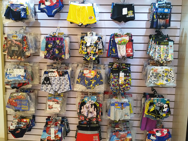 Fabric selection of underwear
