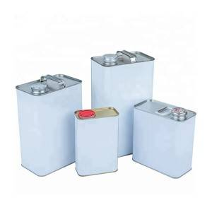 1L-2L-1Gallon-5L F-Style Tin Can for Packaging Chemicals