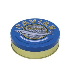 30g 50g 100g 250g 500g empty 8oz caviar tin cans with rubber band