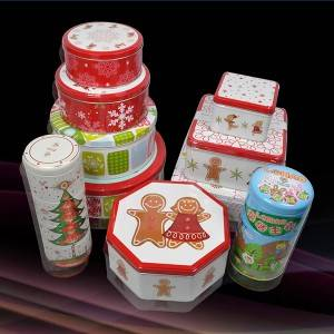 Custom Printing Christmas Decorations Tin Box For Gift&Promotion