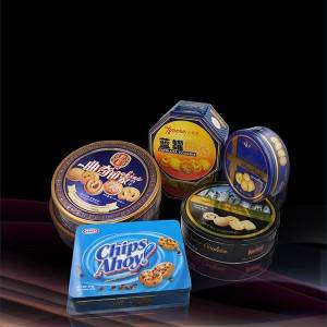 Metal tinplate box  for packaging cookies-Biscuit-Egg Roll_tin box