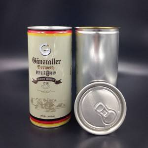 Tinplate can with aluminium EOE sealed for packaging fresh beer