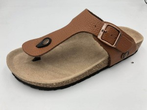 Prime Quality Genuine Leather Men's Cork Footbed Sandals Flipflops For Summer