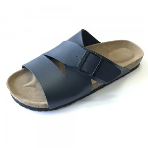 China Supplier China Women′s Girl′s footbed cork sole sandals