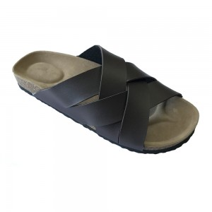 2020 New Style Men Summer Birk Cork Sole Flat Sandals With Comfortable Foot-Bed