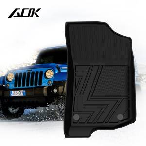 TPE CAR FLOOR MAT FOR JEEP WRANGLER 4-DOOR 2018+
