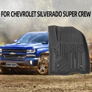TPE CAR FLOOR MAT FOR CHEVROLET SILVERADO SUPER CREW 2019+