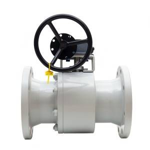 Two piece forging floating ball valve