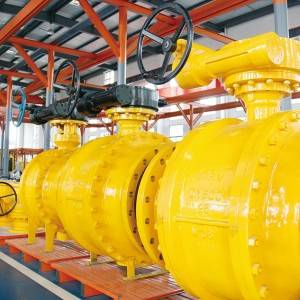 Three piece cast fixed ball valve