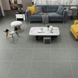 Matte Finish Ceramic Bathroom Floor Tiles Black / Beige / Grey Color