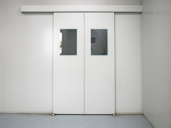 automatic sliding high quality customized fire proof cleanroom door with interlock Featured Image