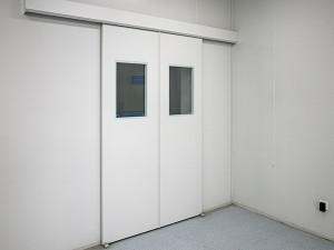 automatic sliding high quality customized fire proof cleanroom door with interlock