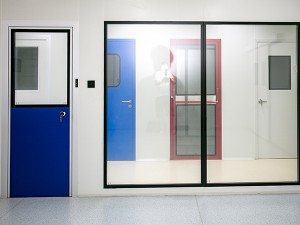 clean melamine resin panel door for medical ind...