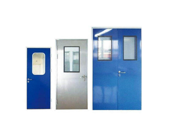 Food medical hospital drug laboratory pharmaceutical industrial GMP hygiene galvanized stainless steel swing clean door Featured Image