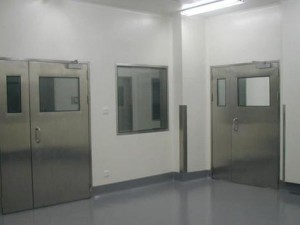Food medical hospital drug laboratory pharmaceutical industrial GMP hygiene galvanized stainless steel swing clean door