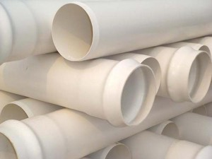 water drainage plastic PVC flared pipe
