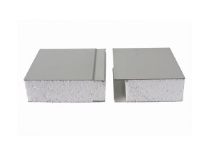 75mm 50mm fireproof lightweight insulated EPS cement sandwich wall panel for prefabricated house factory warehouse