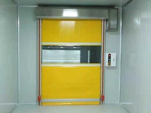 PVC fabric or aluminum rapid acting rolling roller up shutter door