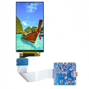 5.5 inch 2160×3840 Resolution R63455 driver IC MIPI interface IPS 4k LCD for medical device in Stock