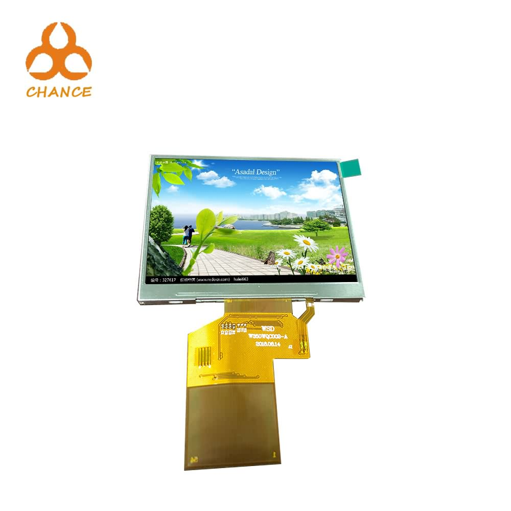 320*240 Resolution SPI+RGB Interface 54pin 3.5 inch tft lcd panel for electronic products at best price