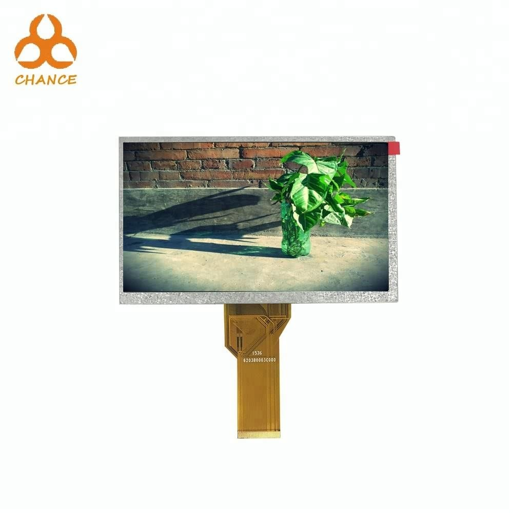 7.0 inch 800*480 HX8264-E,HX8664 RGB TTL interface flexible video tn tft lcd module with capacitive touch panel