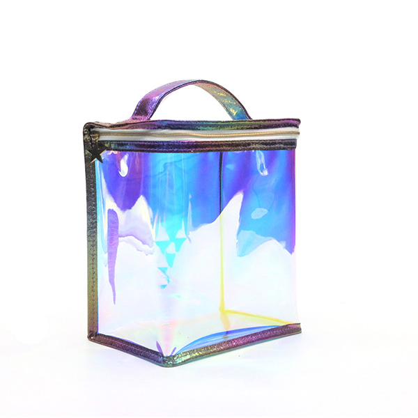 Eco-friendly degradable iridescent TPU cosmetic bags Featured Image