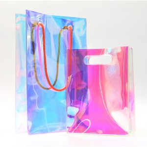 Make up Bag Eco-friendly Clear TPU Holographic Biodegradable Cosmetic Bag Accepted Custom