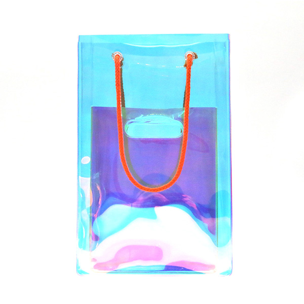 Make up Bag Eco-friendly Clear TPU Holographic Biodegradable Cosmetic Bag Accepted Custom Featured Image