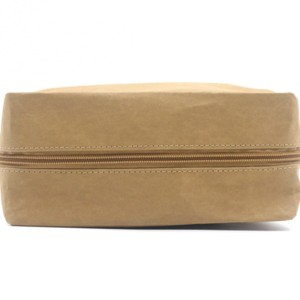 Durable washable kraft paper Zipper Closure Makeup Bag Natural Cosmetic Bag