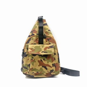Camouflage RPET 100% Recycled Material Chest Bag Sport Style Running Bag Portable Cool Fashion messenger bag for unisex