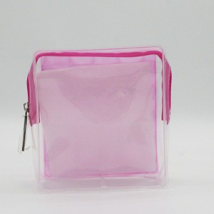 Eco-friendly recycled EVA 3D eyelets material cosmetic bags