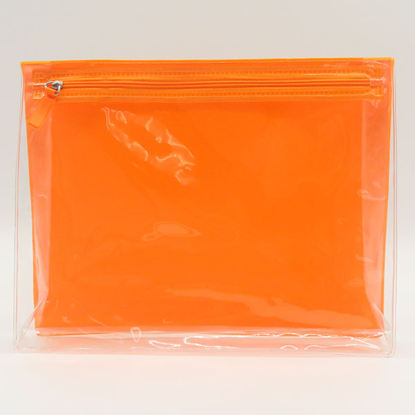 Eco-friendly recycled Transparent Clear  EVA Plastic Zipper Cosmetic Bag Zip Makeup Pouch Featured Image