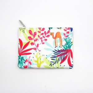Colorful Polyester Bag Handle Closure Durable Cosmetic Bag With Zipper