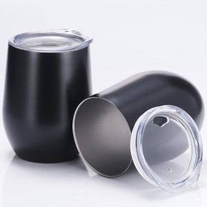 Wholesale Amazon Hot Selling Double Wall Stainless Steel 12oz Swig Wine Tumbler Cup